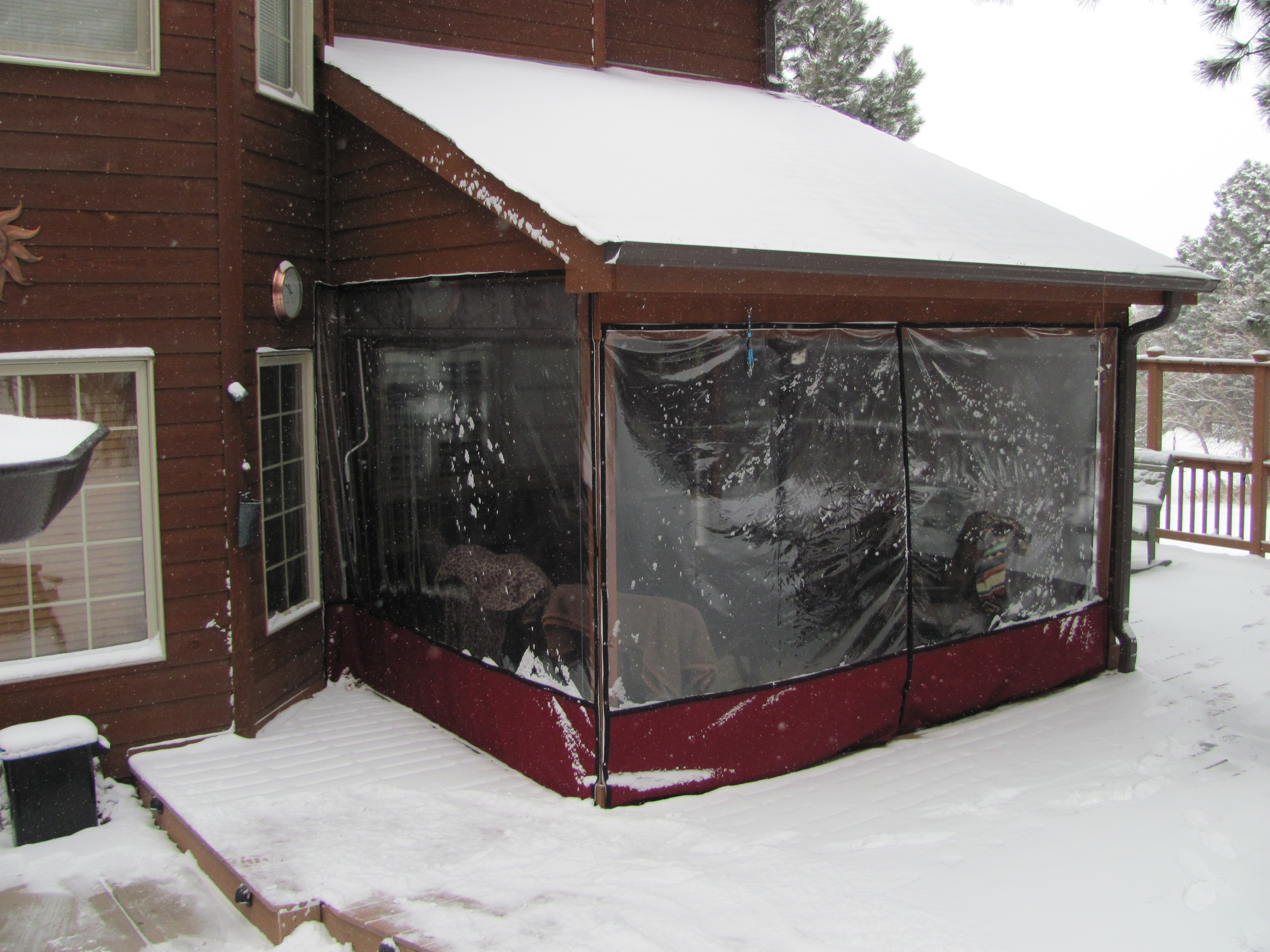 Portfolio of pollen and winter curtains chapel hill - Temporary patio cover ideas ...